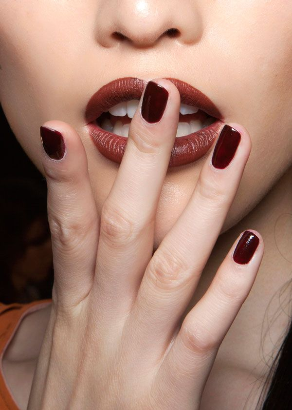 Choose rich tones for your nails