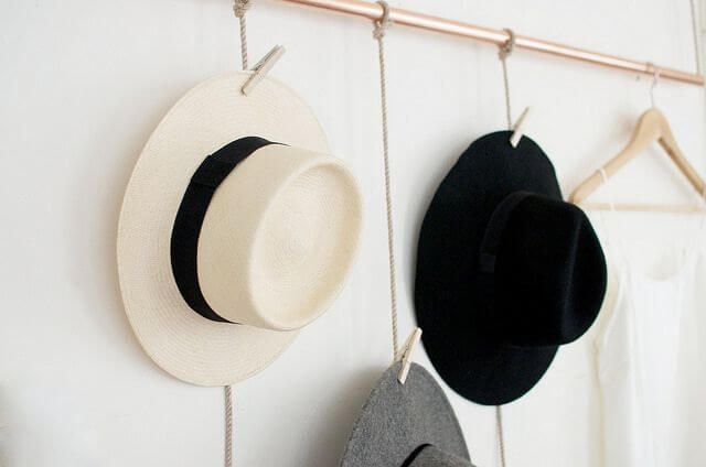 Diy Hat Rack Ideas Organization And Cleaning Garderobe Garderobe Diy Diy Projekte