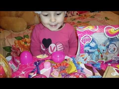 Игрушки сюрпризы в яйцах и пакетиках Барби Герои из Дисней unboxing surprise toys & blind bags Palac - YouTube
