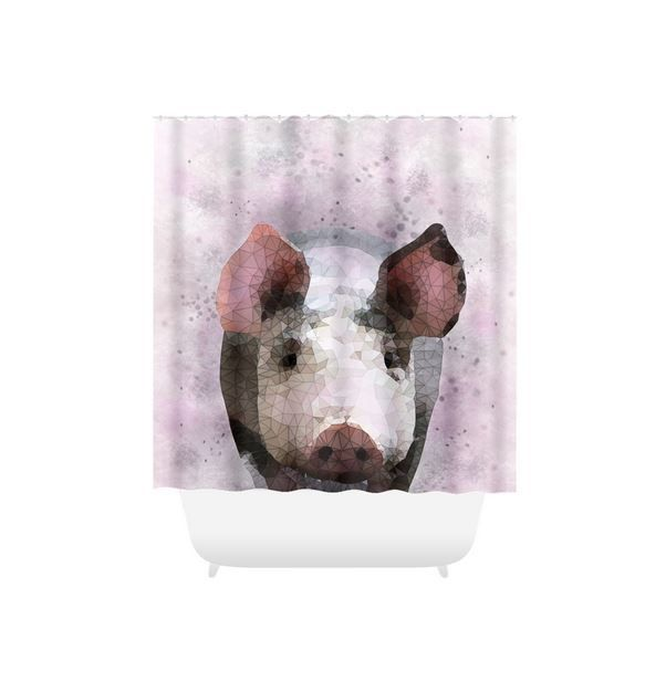 Shower Curtains Pig Shower Curtain Pink Grey Shower Curtain