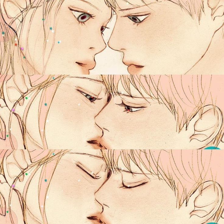 "2,490 lượt thích, 18 bình luận - 살구 (@salgoolulu) trên Instagram: ""Vivid LOVE #2 Amazing Kiss   GRAFOLIO World Illustration challenge Vol. 2 'LOVE'…"""