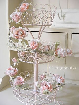Romantic vintage style rose garland Shabby chic crafts