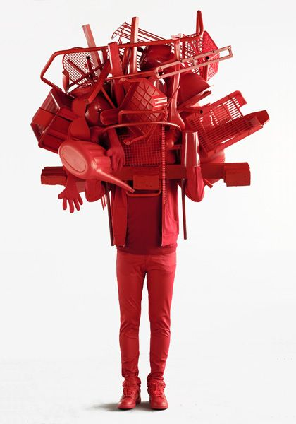 Simply Red, 2009  Plaster, clothing  by Daniel Firman