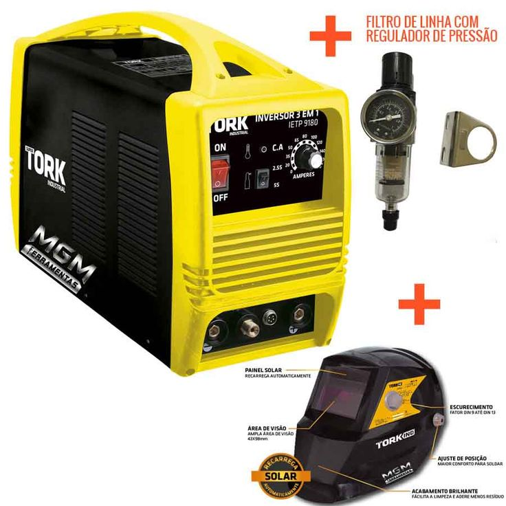 Maquina 180ah Solda Eletrodo Solda Tig Corte A Plasma Tork  - R$ 2.699,00