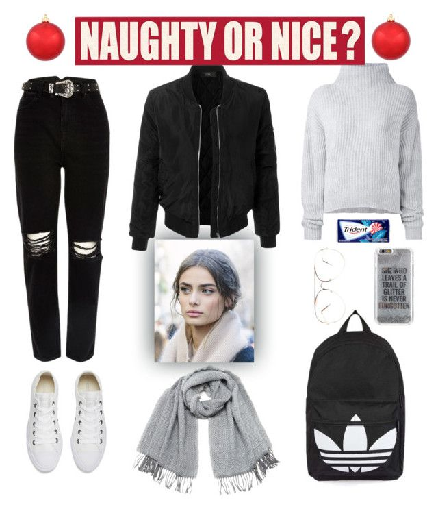 """NAUGHTY OR NICE ?"" by evaskar on Polyvore featuring Converse, Le Kasha, River Island, Topshop, Agent 18, Vero Moda, LE3NO and Sixtrees"