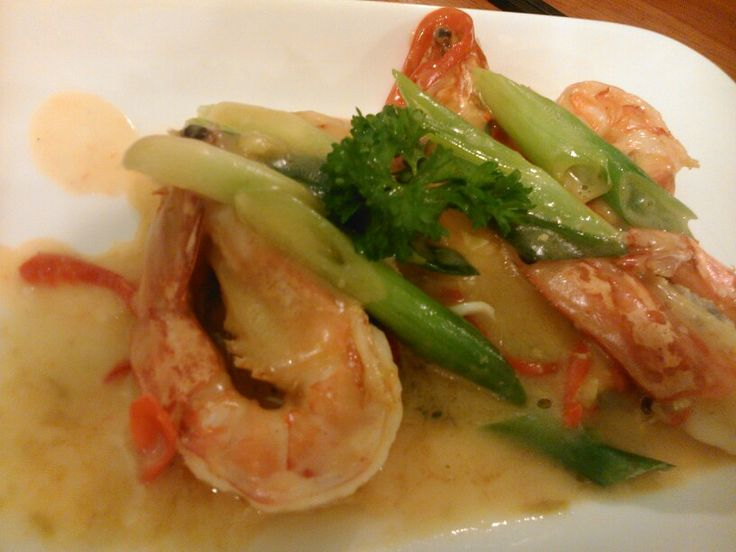 Laota's salt egg prawn