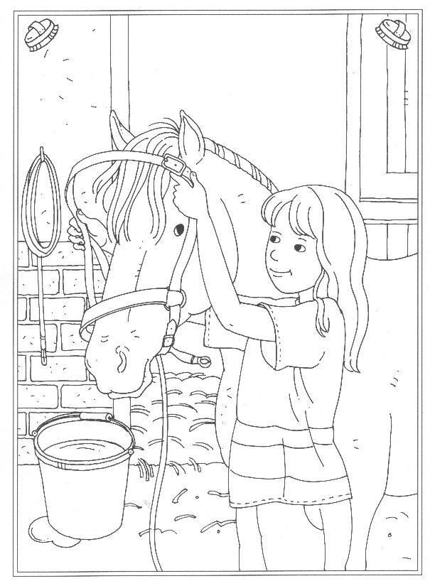 24 Kleurplaten Van Op De Manege Op Kids N Fun Nl Op Kids N Fun Vind Je Altijd D Horse Coloring Books Horse Coloring Pages Horse Coloring
