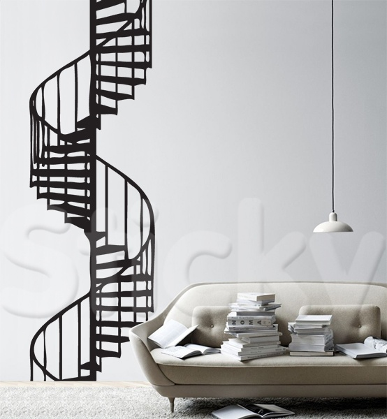 Wall Sticker STAIRS SPIRAL by Sticky!!!