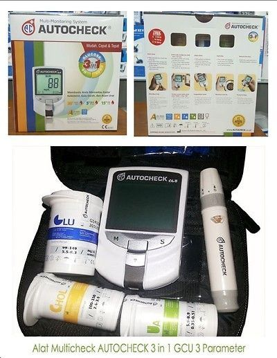 Cholesterol Testing: Autocheck Gcu Blood Glucose Cholesterol Uric Acid Test 3 In 1 Monitoring System -> BUY IT NOW ONLY: $75.99 on eBay!
