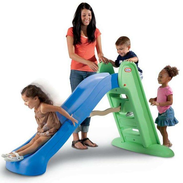 Resbaladera Alta  Fácil de escalar, suave pendiente y con base ancha para mayor estabilidad  Edad: De 2 a 6 años