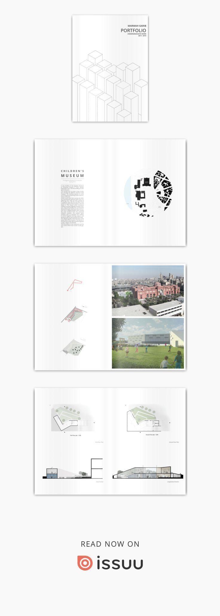 Marwah Garibs Portfolio für Architektur für Studenten – #Architecture #Garibs …  # Kulturelle Architektur