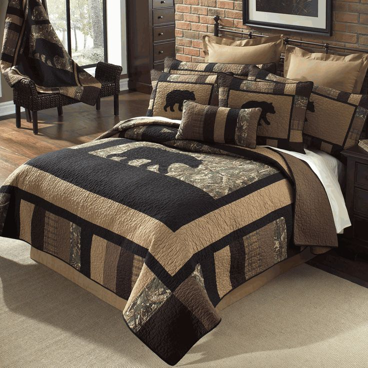 Camo Bear Quilt Bedding Collection