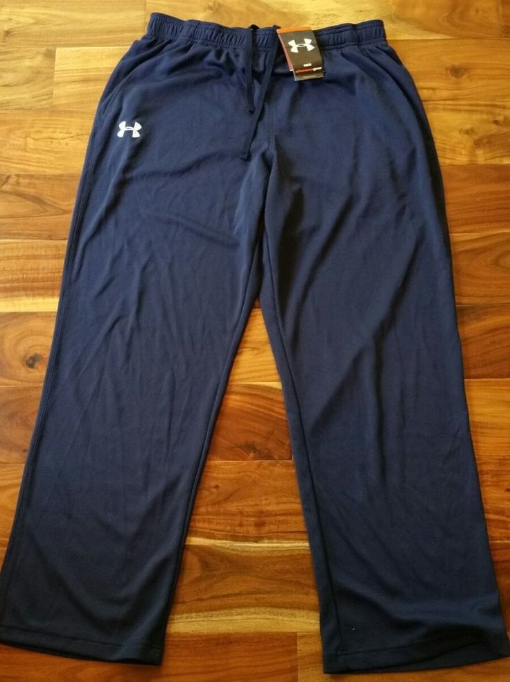 Under Armour All Season Gear Training Pants Men Large Moisture Wicking track New #Underarmour #Pants