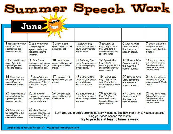 Best Speech Homework Images On   Speech Language