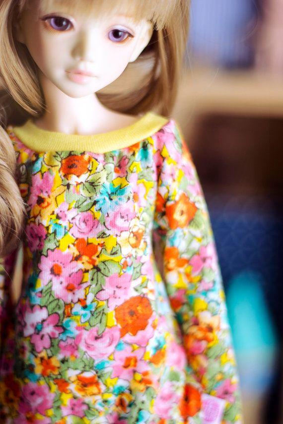 Flowers of Autumn sweater for MSD size bjd dolls by sugardollshop