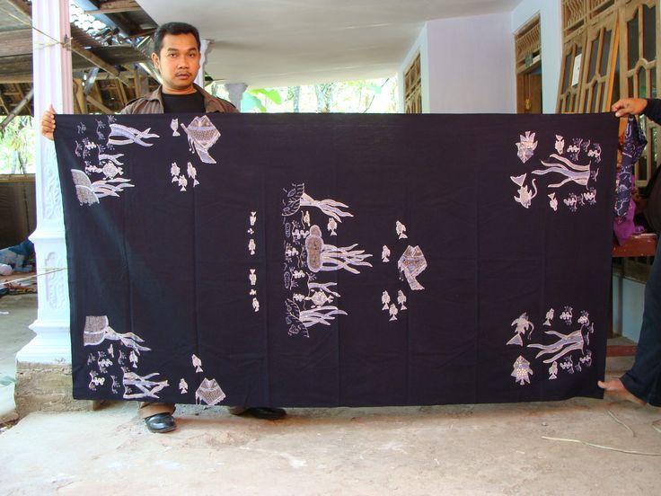 Bahan pakaian batik warna alam