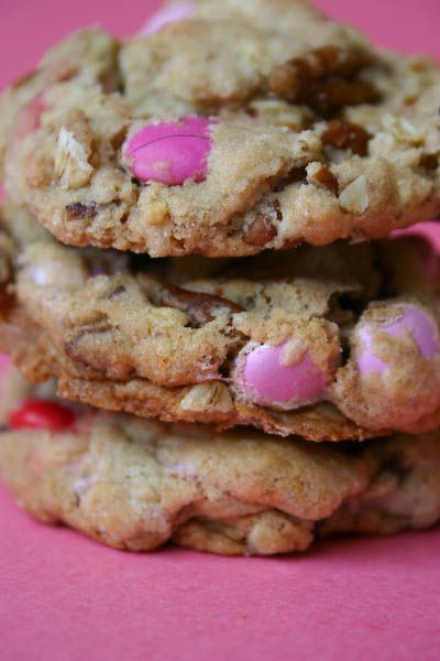 Cowgirl Cookies with Pink M & Ms