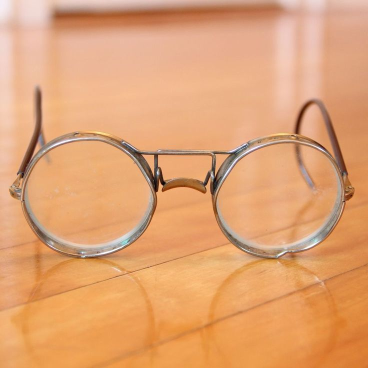 Vintage American Optical AO Safety Welding Glasses Goggles Glass Lens Steampunk #AmericanOptical #Round