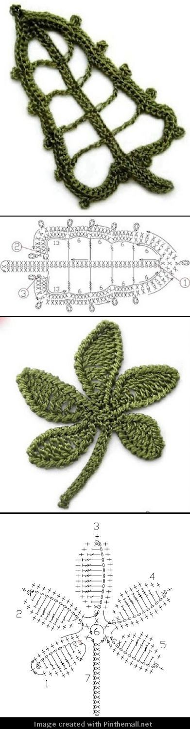 and later flowers (well leaves) for the bees - more irish crochet leaf motifs