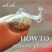 How to remove glitter nail polish
