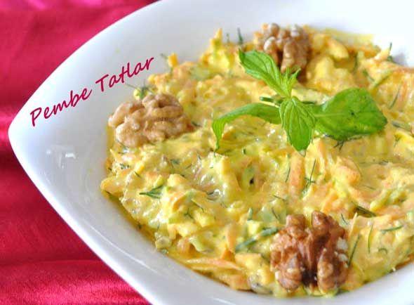 Kabaklı Havuç Salatası Tarifi