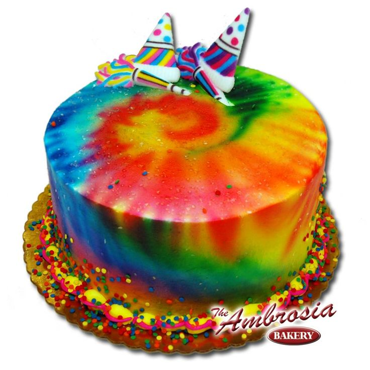 tie dye birthday cake cakes birthday cakes