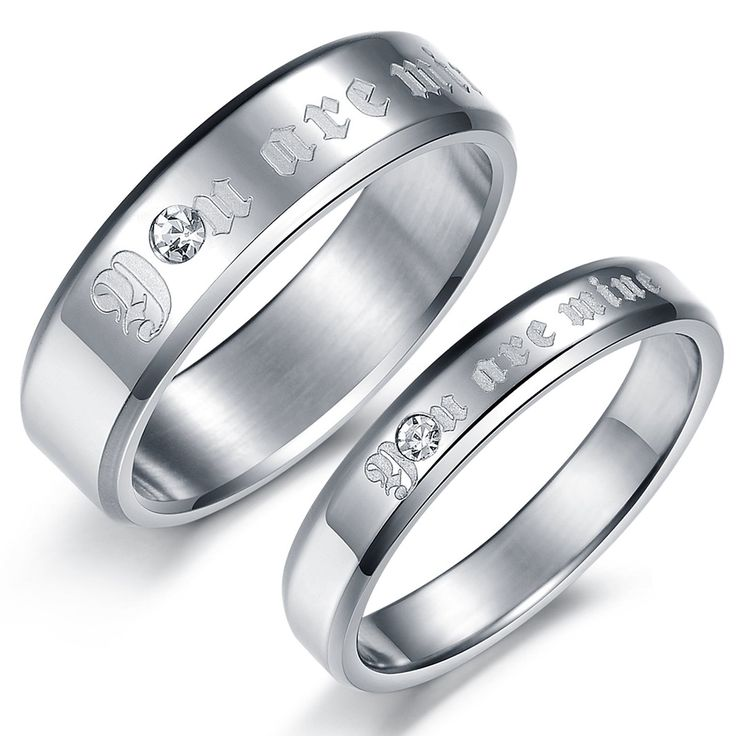 Spectacular  You Are Mine Lover Rings Engravable Titanium Steel Rings For Couples Price For A Pair Personalized Rings