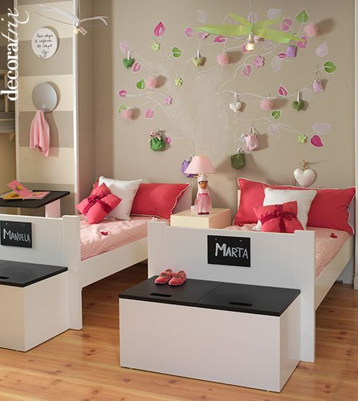 Dormitorios ninas camas infantiles vtv ni os pinterest girls bedroom babies rooms and - Decoraciones para dormitorios ...
