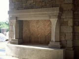 French Gothic Mantel - - fireplaces - toronto - by Tartaruga Design inc.: Living Room, Photo