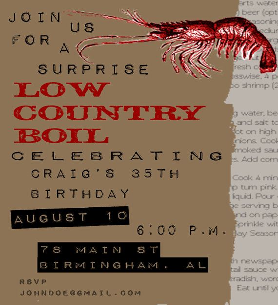 Low country boil digital invitation by heartsmiledesigns on etsy 20