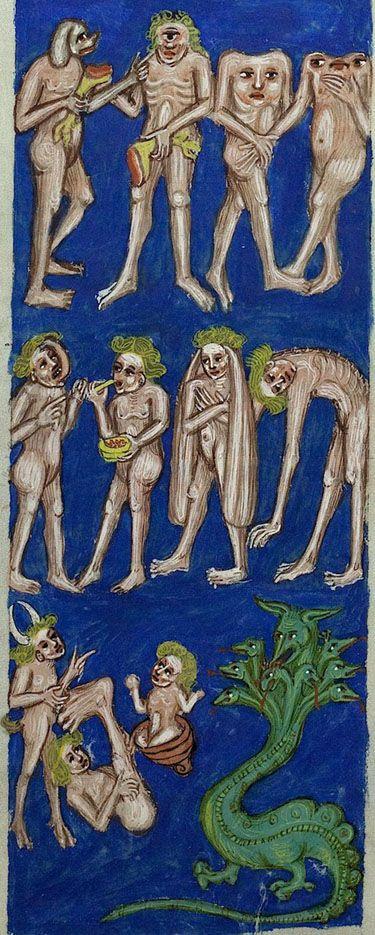 demonagerie:  Vatican, Biblioteca Apostolica Vaticana, Pal. lat. 291, detail of f. 75v. Rabanus Maurus, De rerum naturis. 1425