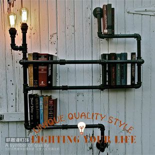 FREE SHIPPING rustic Wall lamp indusrial iron pipes E27 110V/220V Wall sconces FOR  Cafe Bar novelty lamp Study Bookshelf Light US $439.90