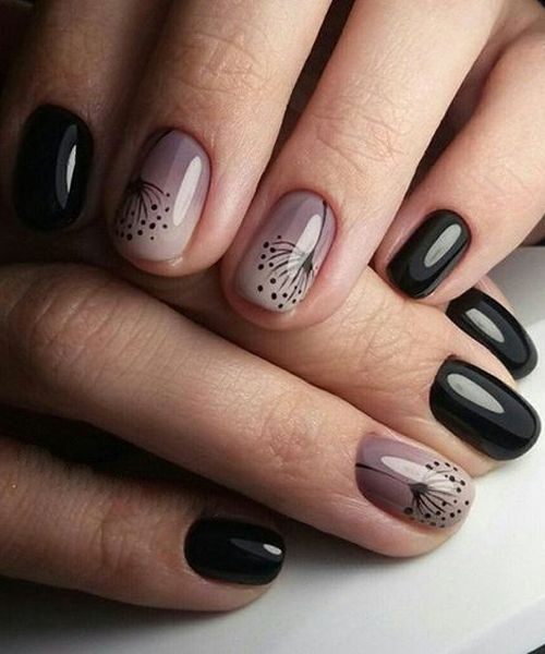 Marvelous Black Ombre Nail Art Designs for Spring Summer