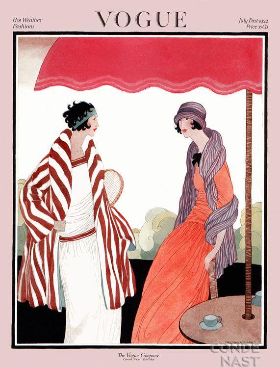 Vogue 1922, July. Vintage Vogue covers #vintage #vogue #covers