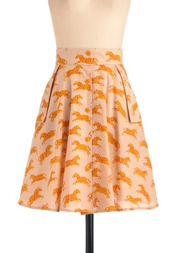 This skirt by Family Affairs is so cute. Make a Run for It Skirt #modcloth