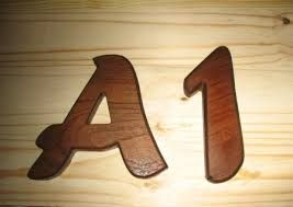 Numbers and Letters carved
