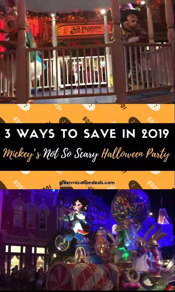 3 Möglichkeiten zum Sparen bei Mickeys weniger beängstigender Halloween-Party im Jahr 2019   – Highlights from Green Vacation Deals