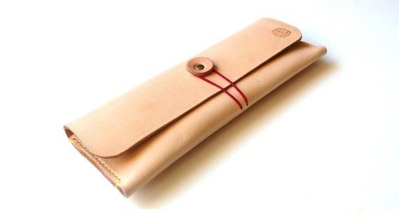 Hand-Stitched Leather Pencil Case by zenokleather