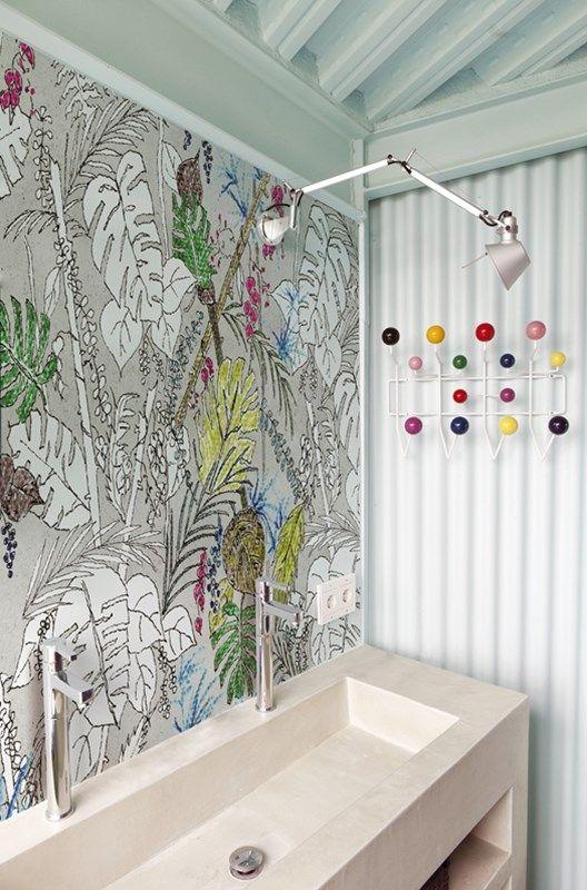 wasserdichte tapeten f r die dusche bad bathroom ideas pinterest tapeten bad and badezimmer. Black Bedroom Furniture Sets. Home Design Ideas