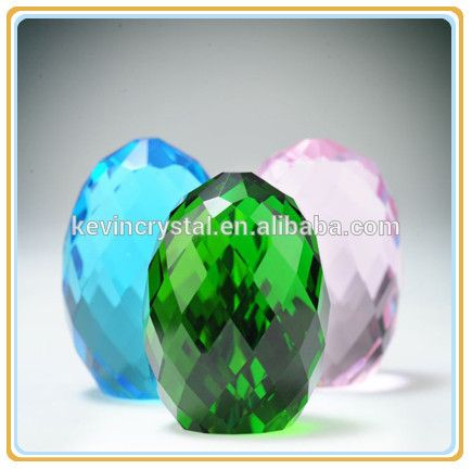 colorful exquisite faceted crystal Easter egg decorations