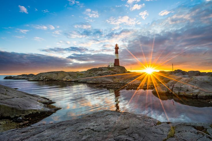 Sunset at Eigeroy lighthouse in Rogaland, Norway.   My facebook photopage : www.facebook.com/richard.larssen