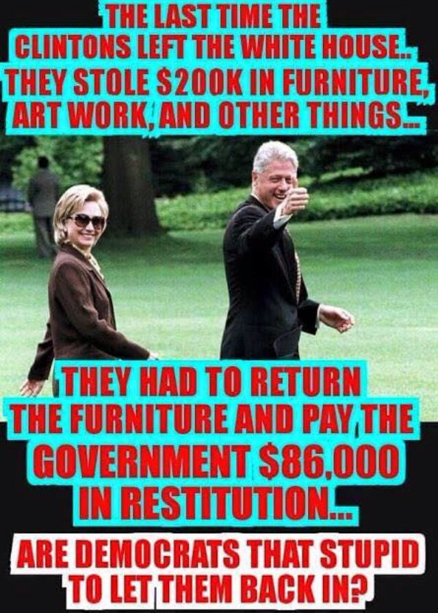 Hillary Stole White House Furniture