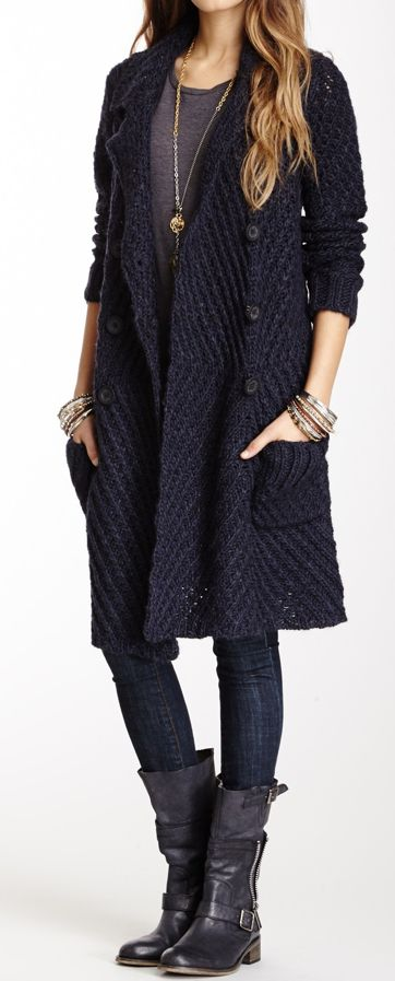 Tejidos - Knitted - Sweater coat
