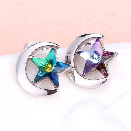 Színes Csillag alakú fülbevaló