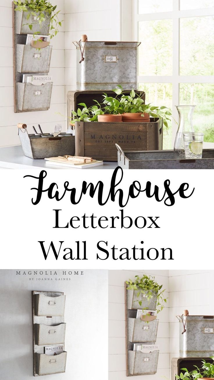 Darling Farmhouse Letter Box Wall Hanging Magnolia Home Fixer Upper Style Farmhouse Style Deco Rustic Office Decor Farmhouse Style Decorating Magnolia Homes