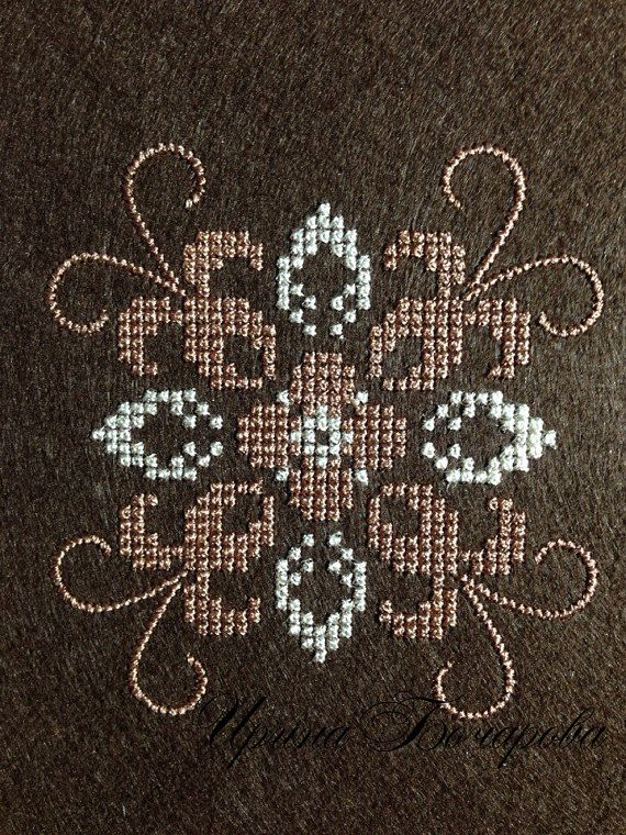 Machine Embroidery Design Pattern cross-stitch French knot