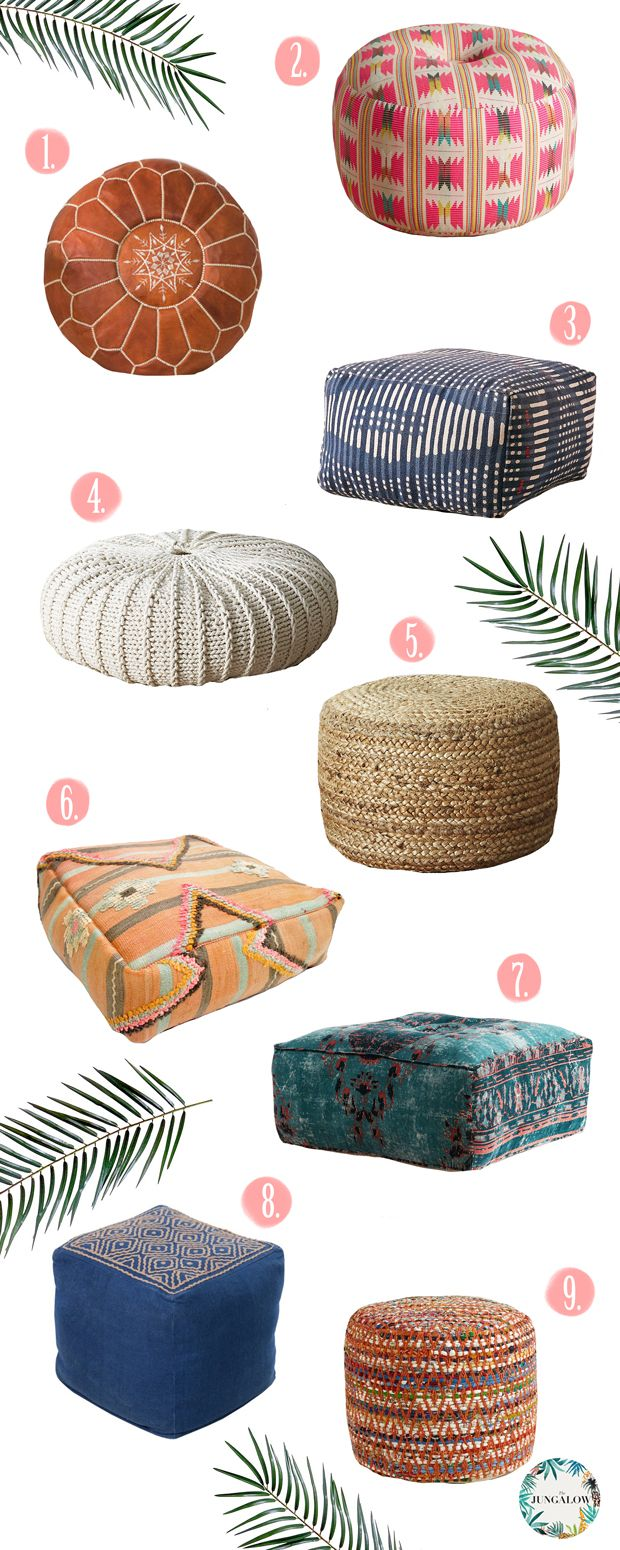 Poufs may just be one of the most versatile pieces of furniture you can find. Need an extra seat? Pull out a pouf. Want a temporary coffee…