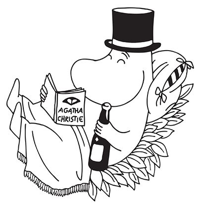 Moominpapa reading Agatha Christie!