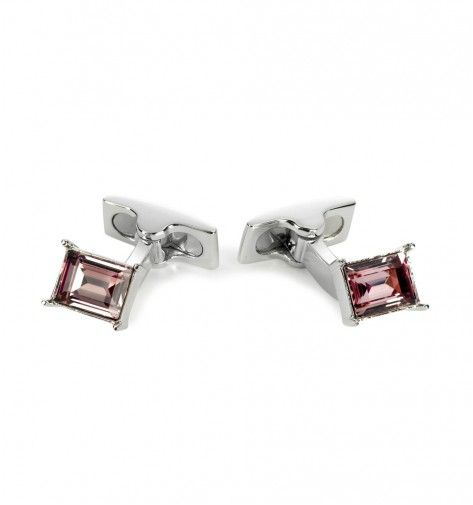Miss Links 'Isabella' amethyst crystal emerald cut solitaires