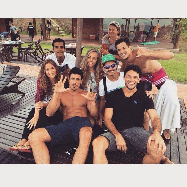 Hanna Lind, Rafaela Rodrigues, Rafael Rigoni, Eduardo Coutinho e Fernando Pessiquelli no making of da campanha da Cobra D'agua verão/2016. #brazilianmodel #makingof  #model #beauty #ragazzomgmt #oscobras